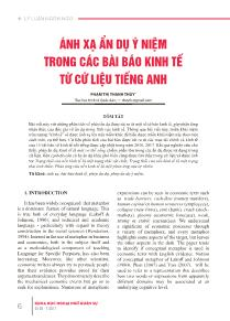 Ánh xạ ẩn dụ ý niệm trong các bài báo kinh tế từ cứ liệu Tiếng Anh