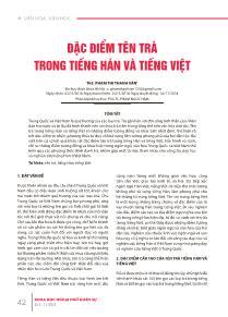 Đặc điểm tên trà trong tiếng Hán và Tiếng Việt