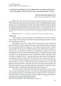 Đánh giá sự phù hợp của giáo trình New English File dành cho sinh viên không chuyên tiếng Anh tại Trường Đại học Tây Bắc