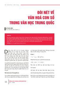 Đôi nét về văn hóa con số trong Văn học Trung Quốc
