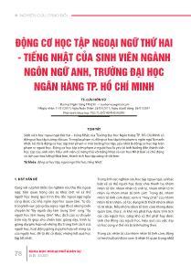 Động cơ học tập ngoại ngữ thứ hai - Tiếng Nhật của sinh viên ngành ngôn ngữ Anh, Trường Đại học ngân hàng TP Hồ Chí Minh