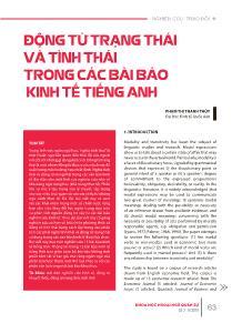 Động từ trạng thái và tình thái trong các bài báo kinh tế Tiếng Anh