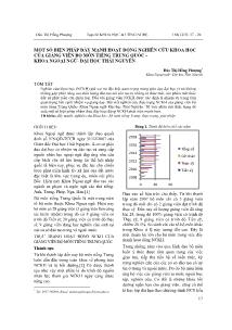 Một số biện pháp đẩy mạnh hoạt động nghiên cứu khoa học của giảng viên bộ môn tiếng Trung Quốc - Khoa ngoại ngữ- đại học Thái Nguyên