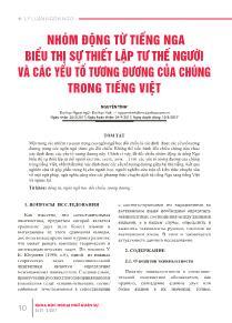Nhóm động từ tiếng nga biểu thị sự thiết lập tư thế người và các yếu tố tương đương của chúng trong Tiếng Việt