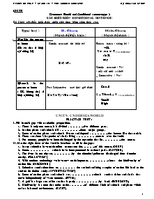 Practice test - Grade 10 - The second semester - English Group