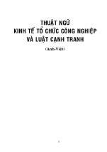 Thuật ngữ kinh tế tổ chức công nghiệp và luật cạnh tranh (Anh - Việt) - Phần 1