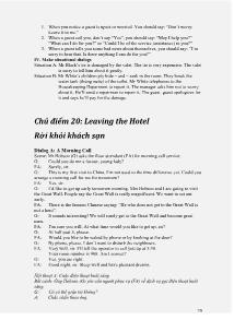 Tiếng Anh căn bản cho người bán hàng - Phần 2