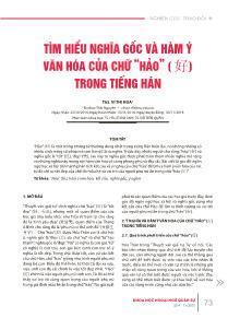 """Tìm hiểu nghĩa gốc và hàm ý văn hóa của chữ """"hảo"""" (好) trong Tiếng Hán"""