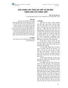 Đối chiếu cấu trúc âm tiết và âm đầu tiếng Anh với Tiếng Việt