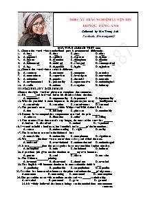 2000 Câu trắc nghiệm luyện thi THPTQG Tiếng Anh