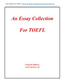 An essay collection for Toefl