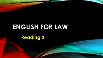 Bài giảng đọc Tiếng Anh luật