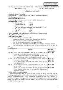 Đề cương học phần - Nghe ghi chú tiếng Anh 1 (Listening Note - Taking 1)