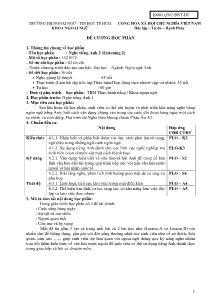Đề cương học phần - Nghe tiếng Anh 2 (Listening 2)