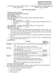 Đề cương học phần - Viết tiếng Anh 2 (Writing 2)