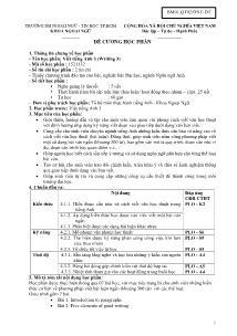 Đề cương học phần - Viết tiếng Anh 3 (Writing 3)