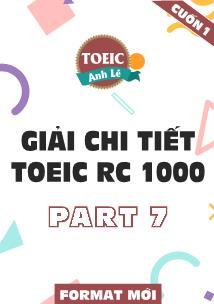 Giải chi tiết Toeic rc 1000