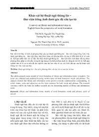 Khảo sát hệ thuật ngữ thông tin – Thư viện tiếng Anh dưới góc độ cấu tạo từ