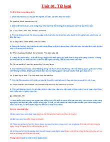 Tài liệu học Tiếng Anh cơ bản