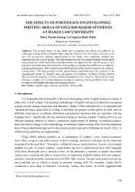 The effects of portfolios on developing writing skills of English major students at Hanoi law university