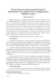 The senior English major students' perception of cohesion in academic ielts writing task 2