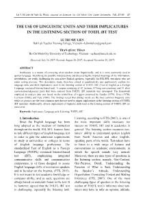 The use of linguistic units and their implicatures in the listening section of toefl ibt test